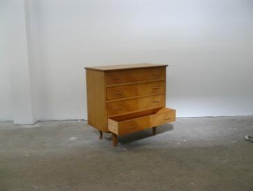 Commode 4 tiroirs en bois